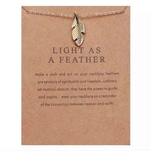 3/$30 ✨ Light as a feather Necklace